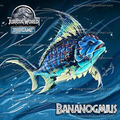 Bananogmius by on DeviantArt Jurassic World Hybrid, Jurassic Park World, Prehistoric Wildlife, Prehistoric Creatures, World Serpent, Jurassic Park Party, Real Pokemon, Jurassic World Dinosaurs, Famous Pictures