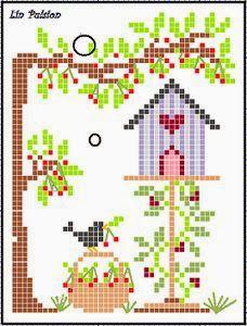 Letras e Artes da Lalá: Gráficos de ponto cruz (fotos: pinterest.com)