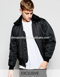 OEM Exclusive Black g2/ma-1 Nylon Flight Jacket with fur collar, View nylon flight jacket, OEM Product Details from Guangzhou Profound Garment Co., Ltd. on Alibaba.com