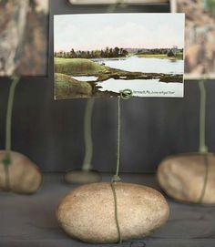 pebble photo holder DIY craft idea