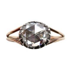 1stdibs.com   Superb 18th Century Rose Cut Diamond Ring-netherlands circa 1800. Love the handmade quality of the bezel
