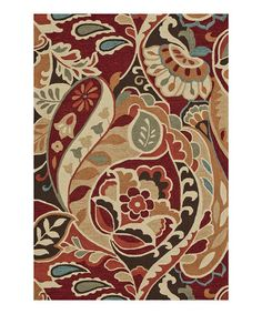 Take a look at this Red Multi Summerton Rug by Loloi Rugs on #zulily today!