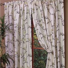 100% polyester curtain panel, easy care,   Available in 84&...