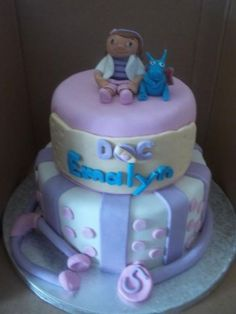 doc mcstuffins cake. completely edible
