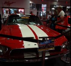 2012 Sema Show pic of the 1968 Shelby GT500, you can enter to win it at: http:.//www.winthemustangs.com. Promo: WB1513M4 gives you bonus tickets.