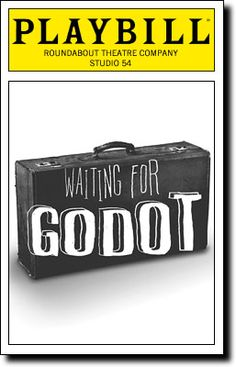 Waiting for Godot Playbill Covers on Broadway - Information, Cast, Crew, Synopsis and Photos - Playbill Vault Studio Theater, Music Theater, Theatre, Studio 54, Image Cover, Musicals, Broadway Shows, Waiting, It Cast