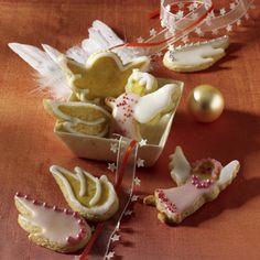 Engel und Engelflügel Kekse Rezept   LECKER