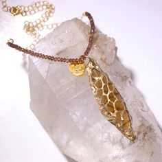 Pods- Topaz Crystal with delicate charm on Light Amethyst Beads- Necklace by Pauletta on Etsy