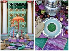 """Road to Marrakesh: An """"Inspired"""" Moroccan-Themed Table Setting, from Trenna Travis Design Studio"""