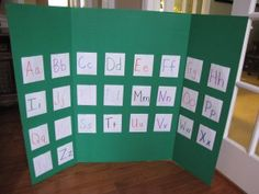 Learning Letter Sounds: Our Letter Pockets - love this idea!