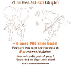Chibi Pose Reference (Simple Chibi Base Set #35) by Nukababe
