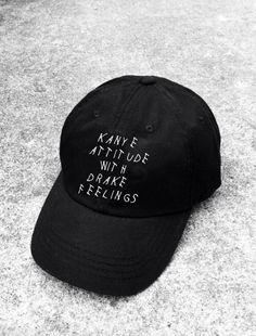 Kanye Attitude With Drake Feelings Hat by basedcaps on Etsy