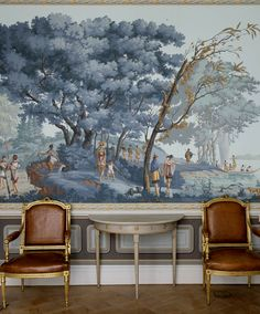 Block-printed panoramic wallpapers were developed in early 19th century France and called: Papiers Peints Panoramiques - the name that de Gournay uses today