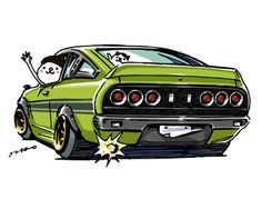 "car illustration""crazy car art""jdm japanese old school ""B210 ""original…"