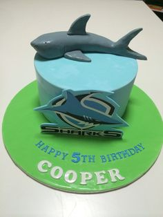 Cronulla Sharks Birthday Cake