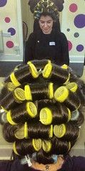 efc176cfbe49004ea719626b05636675 | hestocolmo soussa | Flickr Natural Hair Regimen, Natural Hair Growth, Natural Hair Styles, Long Hair Styles, Hair Curlers Rollers, Wet Set, Updo Styles, Bobe, Roller Set