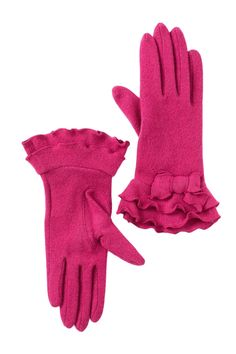 Vincent Pradier - Ruffle Bow Gloves at Nordstrom Rack. Free Shipping on orders over $100.