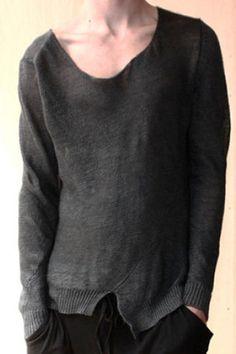 SKINNY NELSON, LIGHT KNIT SLOUCH SWEATER: knit linen.