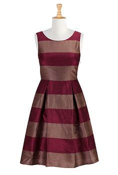 I <3 this Show your stripes dupion dress from eShakti