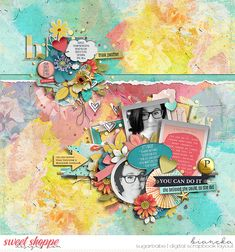 jocee designs & the nifty pixel - pep talk | bundle the nifty pixel - pep talk | page drafts