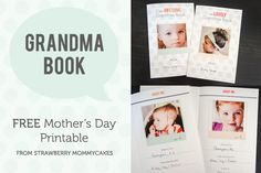 Grandma Book FREE Mothers Day Printable on www.strawberrymommycakes.com