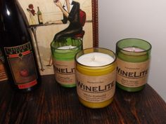 Hand-Poured Soy WineLite Candle in Re-purposed by iheartWineLite