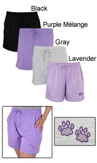 Purple Paw Women's Casual Shorts at The Animal Rescue Site