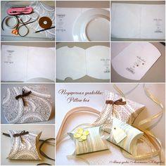 How to DIY Paper Pillow Gift Box | www.FabArtDIY.com LIKE Us on Facebook ==> https://www.facebook.com/FabArtDIY