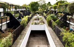 Heritage List Entry Summary for Dunboyne Road Estate Jungle House, Concept Architecture, Camden, Garden Bridge, Stairs, England, Outdoor Structures, London, Landscape