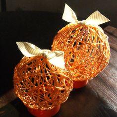 Yard pumpkin balls...super cute!