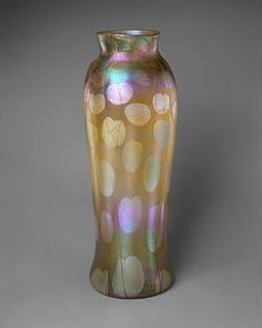 Designed by Louis Comfort Tiffany (American, New York 1848–1933 New York); Made by Tiffany Glass and Decorating Company (American, 1892–1902). Vase, ca. 1900. The Metropolitan Museum of Art, New York. Gift of Robert and Gladys Koch, 1999 (1999.412.1)