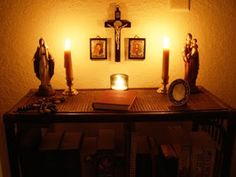 Raising (& Teaching) Little Saints | Catholic Homeschooling and Traditional Catholic: Domestic Church: Room by Room - Family Altars