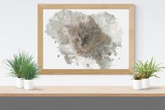 Cross Stitch Pattern: watercolour cat Kitten fur baby moggy domestic short hair Stitchy Wonders - embroidery art chart download PDF Watercolor Cat, Watercolor Pattern, Hand Embroidery Patterns, Embroidery Art, Counted Cross Stitch Patterns, Cats And Kittens, Fur Babies, Short Hair, Pdf
