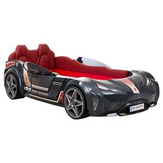 Cilek - GTI Carbed (Anthracite) with Mattress - Boy Car Room, Child Room, Kids Room, Best Soccer Shoes, Batman Bed, Kids Car Bed, Race Car Bed, Car Themes, Cool Gadgets To Buy