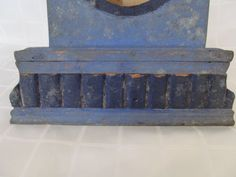 ANTIQUE-PRIMITIVE-OLD-HAND-CARVED-BLUE-PAINTED-WOODEN-WALL-HANGING-WATCH-BOX