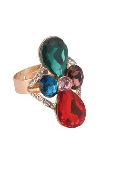 Crystal Bling Ring Rs. 475/- http://www1.juvalia.in/jewellery/rings/crystal-bling-ring.html #ring #ValentinesDay #gift #drophimagift