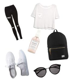 """Letni obleceni"" by jana-zy on Polyvore featuring Topshop, MANGO, Aéropostale, Herschel Supply Co., Herbivore Botanicals and Yves Saint Laurent"