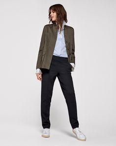 Flat front tailored trouser | Women's Leggings Trouser | ME+EM