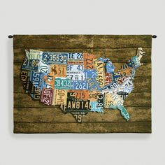 Home Decor - USA Wood Tags Tapestry Wall Hanging | Get paid up to 8.6% Cashback when you shop at Cost Plus World Market with your DubLi membership. Not a member? Sign up for FREE at www.downrightdealz.net