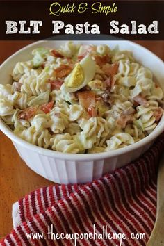 ... salad recipe. The BLT pasta salad is sure to have you coming back for