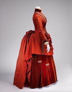 Ball gown Date: late 1870s Culture: British Medium: silk