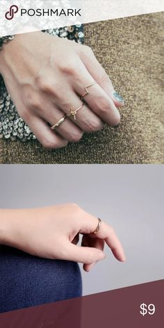 Rhinestone simple band ring Simple but classic. Diameter 16mm Jewelry Rings