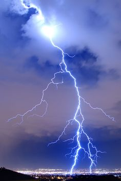 Job 36:32 - He fills His hands with lightning and commands it to strike its mark.