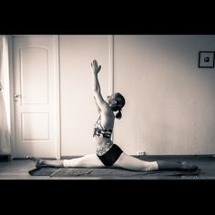 Yoga pose split