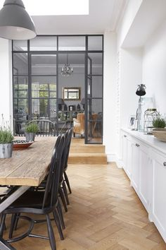 Design by Blakes London Orangerie Extension, Crittal Doors, Door Design Interior, Design Interiors, Interior Decorating, Marquise, Room Doors, Room Divider Doors, Room Dividers