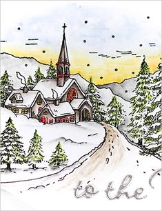 Snowy Hamlet - Marika Rahtu for Penny Black - Window Card