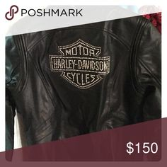 """Ladies cute bling Harley Davidson Leather Jackey Ladies """"bling"""" Harley Leather Jacket Harley-Davidson Jackets & Coats"""