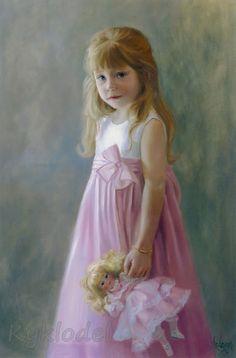 Anderson, Michele W. Doll Painting, Painting Of Girl, Illustrations, Illustration Art, Fashion Artwork, Art Themes, Art For Kids, Art Children, Portrait Art