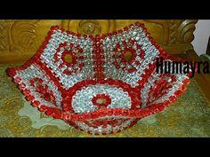 How to make beaded fruit basket /Tutorial /পুতির শাপলা ঝুড়ি টিউটোরিয়াল / Beaded Crafts, Beaded Ornaments, Tatting Jewelry, Beaded Jewelry, Beading Tutorials, Beading Patterns, Bead Bowl, Peacock Crochet, Beaded Boxes