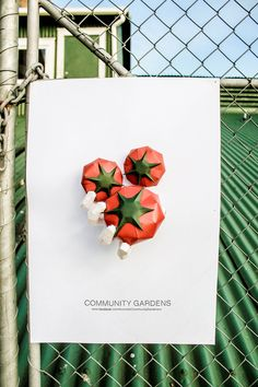 'If its not homegrown, its crap' Paper art promoting community gardens.